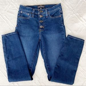 J.Crew High Rise Mercantile Skinny Jean Button Fly